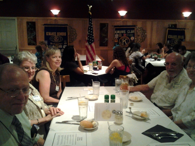 Kiwanians at Induction Dinner.
